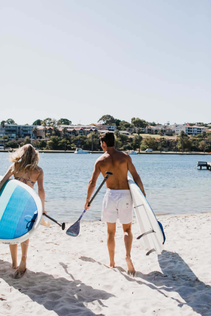 walking and paddle boarding